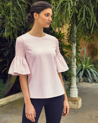 43cad3424eed39 Ted Baker AVANNAH Smocked fluted sleeve top