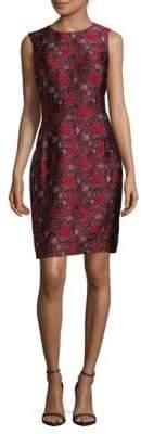Oscar de la Renta Jacquard Sheath Dress
