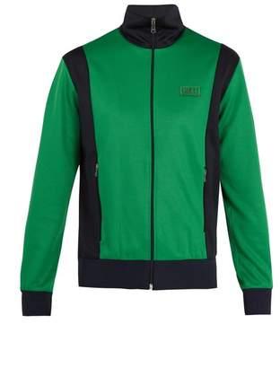 Gucci - Contrast Panel Zip Through Sweatshirt - Mens - Green