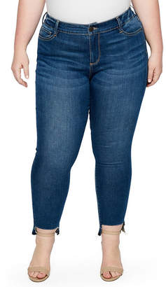 Boutique + + Step Hem Skinny Jean - Plus