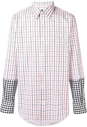 Stella McCartney contrast checked shirt