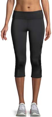 Marc Ny Performance Mixed-Media Cropped Performance Leggings