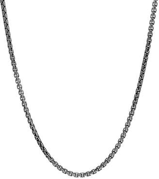 """John Hardy Sterling Silver with Satin Matte Black Rhodium Classic Chain Necklace, 26"""""""