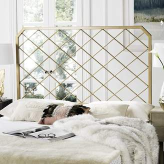 Safavieh Stitch Metal Mesh Headboard, Antique Gold in Multiple Sizes