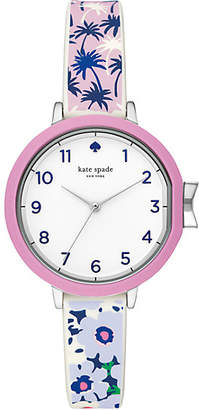 Kate Spade Park row tropical silicone watch