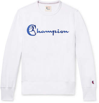 Todd Snyder + Champion Embroidered Loopback Cotton-Jersey Sweatshirt