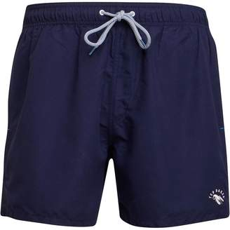 Ted Baker Mens Who You Solid Drawstring Swim Shorts Navy