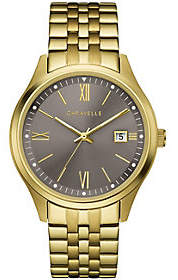 Caravelle Men's Goldtone Stainless Steel Bracelet Watch