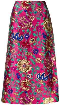 La Doublej brocade pencil skirt