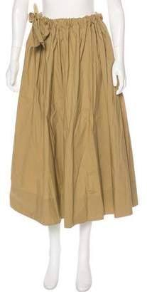 Ter Et Bantine Ruffle-Accented Midi Skirt