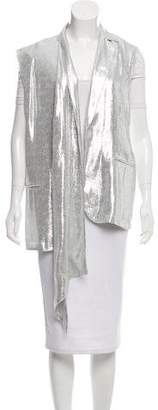 Baja East Metallic Vest w/ Tags