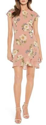 Bardot Floral Lace-Up Chiffon Dress