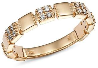 Bloomingdale's Diamond Square Band in 14K Yellow Gold, 0.20 ct. t.w. - 100% Exclusive