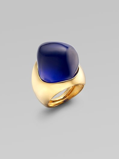 Kenneth Jay Lane Dome Ring/Blue