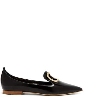Rupert Sanderson Point-toe leather flats