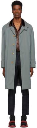 Burberry Blue Heathcote Coat