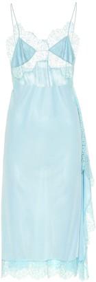 Stella McCartney Lace-trimmed satin dress