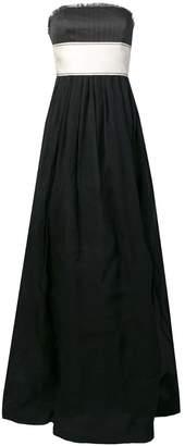 Brunello Cucinelli belted strapless gown