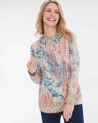 Of the Moment Zenergy Paisley Medallion Tunic