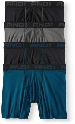 AND 1 Men's Performance Boxer Briefs with Mesh Fly Pouch, 4-Pack