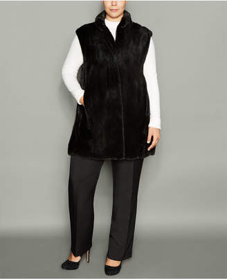 The Fur Vault Plus Size Mink Fur Vest