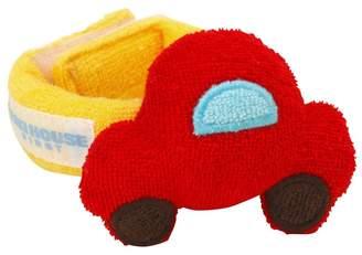 Mikihouse (ミキハウス) - ミキハウスベビー 赤い車とお花のリストラトル(手首用)【赤】