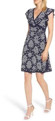 MICHAEL Michael Kors Flower Empire Waist Dress
