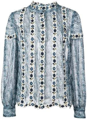 Sea Bella floral embroidered shirt