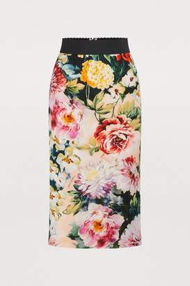 Dolce & Gabbana Flower pencil skirt