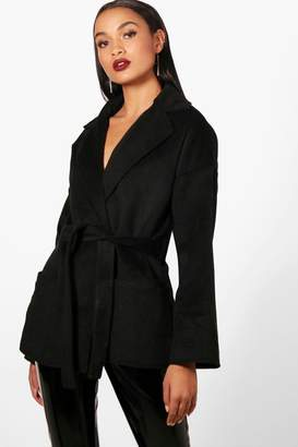 boohoo Belted Robe Coat