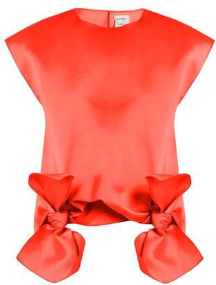Maison Rabih Kayrouz Tie Front Sleeveless Top - Womens - Orange