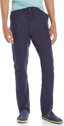 Br.Uno Linen-Blend Drawstring Pants