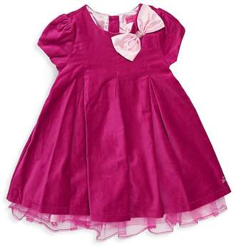 Betsey Johnson Little Girl's Bow and Sequin Applique Cotton Dress