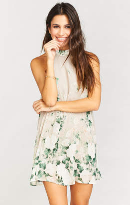Show Me Your Mumu V-Right Back Mini Dress ~ Bouquet Toss
