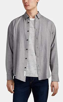 Rag & Bone Men's Tomlin Cotton-Linen Flannel Shirt - Gray