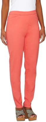 Liz Claiborne New York Regular Hepburn Slim Leg Twill Pants