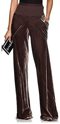 Rick Owens Women's Bias-Cut Velvet Wide-Leg Pants
