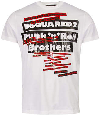 DSQUARED2 T-Shirt Punk N Roll White