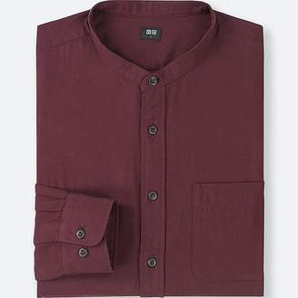 Uniqlo Men's Soft Twill Stand Collar Long-sleeve Shirt (online Exclusive)