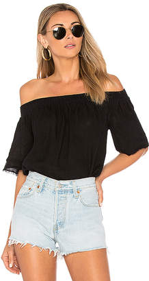 Krisa Linen Off Shoulder Top