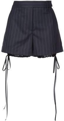 Vera Wang striped bloomer detail shorts