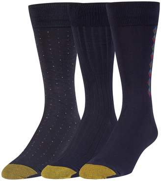 Gold Toe Men's Big and Tall Dress Crew Socks, 3 Pairs