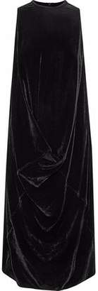 Rick Owens Draped Velvet Dress