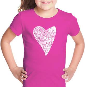 Lots of Love LOS ANGELES POP ART Los Angeles Pop Art Short Sleeve Graphic T-Shirt Girls