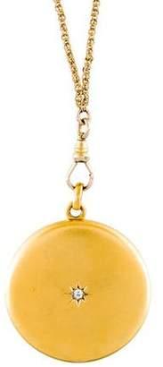 Necklace Antique Slide Chain & Monogram Locket Pendant