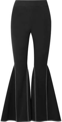 Beaufille - Aldra Stretch-cotton Flared Pants - Black