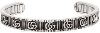 Gucci Silver GG Cuff Bracelet