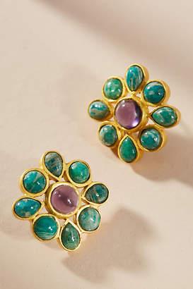 Kanupriya Mosaic Flower Post Earrings