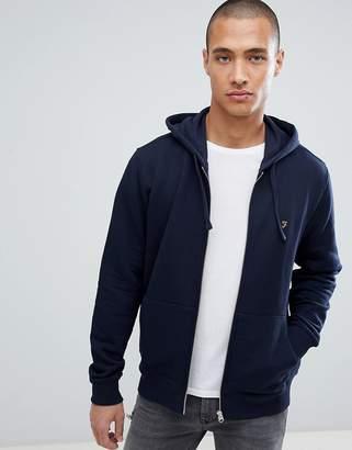 Farah zip up hoodie with F logo