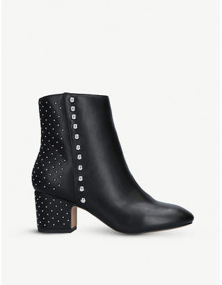 Kurt Geiger Taio studded faux-leather ankle boots